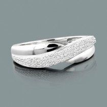 Affordable Diamond Wedding Band 0.18ct Sterling Silver Jewelry