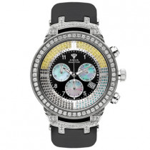 Aqua Master Diamond Watch Black Yellow Diamonds 4.25