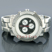 Aqua Master Mens White and Black Diamonds Watch 4.50ct
