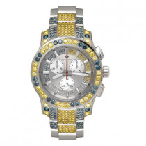 Aqua Master Watches Blue Yellow Diamond Watch 13ct