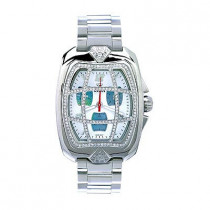 Aqua Master Watches Mens Diamond Grille Watch 2.00ct