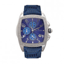 Aqua Master Watches Mens Diamond Watch 1.50ct Blue