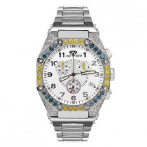 Aqua Master Watches Mens Diamond Watch Octagon 4.50ct