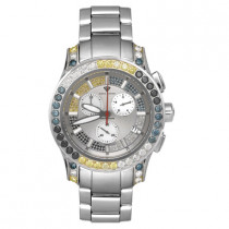 Aqua Master Watches Mens Fancy Color Diamond Watch 8ct