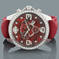 Arctica Watches Mens Diamond Watch 4.00ct Red