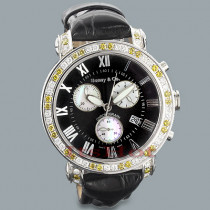 Benny and Co Watches: Mens Diamond Watch 6ct New Arrival