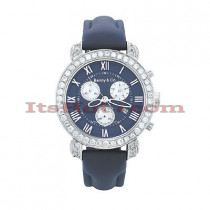 Benny Co Mens Diamond Watches Collection 3ct Navy
