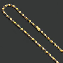 Black and Yellow Diamond Chain Necklace 20.87ct 10K Gold