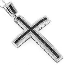Black Diamond Jewelry: Diamond Cross Pendant 1.39ct 10K