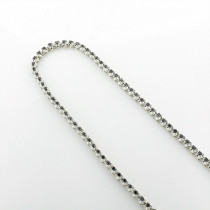 Black Diamond Jewelry: Eternity Diamond Necklace Sterling Silver Chain