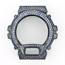 Black G-Shock Bezel with Blue Crystals
