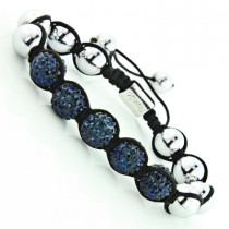 Blue Crystal Jewelry - Beaded Disco Ball Bracelet