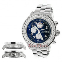 Breitling Aeromarine Super Avenger Diamond Watch 14.12ct