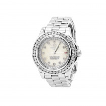 Breitling Colt Ladies Custom Diamond Watch 2.50ct