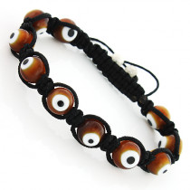 Brown Evil Eye Bracelet - Beaded Jewelry Mocreme Style