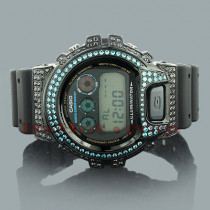 Casio Black Blue G-Shock Watch with Crystals