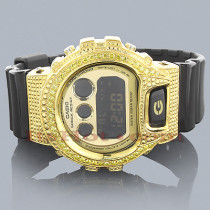 Casio G-Shock Yellow Diamond Watch 2.00ct DW-6900