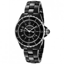 Chanel Watches: Women's J12 Black Lacquered Dial Black High-Tech Ceramic H0682