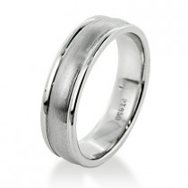 Comfort Fit Platinum Wedding Band for Men - Custom Made