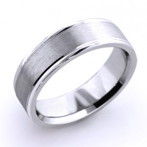 Cosmopolitan Wedding Band for Men in Platinum