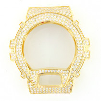 Crystal G-Shock Bezel Yellow Gold Tone