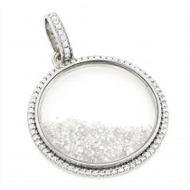 Custom Made Diamond Shaker Pendant 8.7ct Circle Jewelry