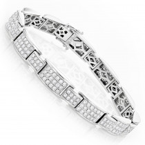 Dazzling Pave Diamond Bracelet in 14K Gold 6.04ct