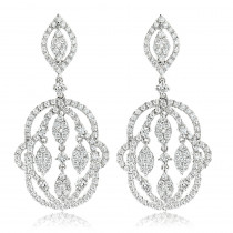 Designer Chandelier Diamond Earrings for Women by Luxurman 2.5ct 14K Gold