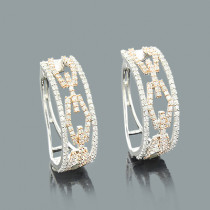Designer Cutout Diamond Hoop Earrings 0.82ct 14K Gold