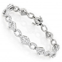 Designer Diamond Bracelet 14K 4.94ct