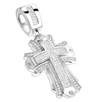 Designer Diamond Cross Pendant 2 ct 14K Gold