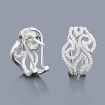 Designer Diamond Earrings for Women in 14K Gold 0.68ct Small Hoops