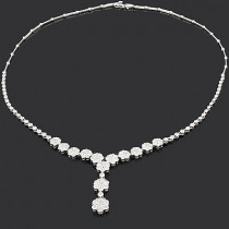 Designer Diamond Flower Necklace 7.10ct Cluster Jewelry