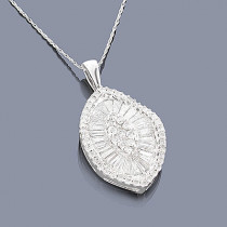 Designer Diamond Jewelry: 14K Diamond Pendant 2.19
