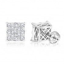 Designer Diamond Stud Earrings for Less 1.75ct 14K Gold