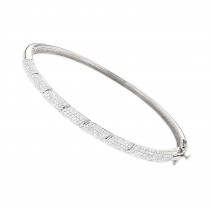 Designer Luxurman 14K Gold Pave Diamond Bangle Bracelet for Women 1.25ct