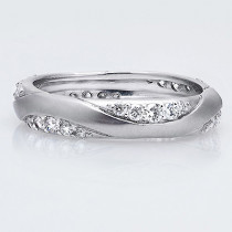 Thin Designer Wedding Bands: Diamond Eternity Ring 18K Gold