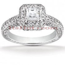 Diamond 18K Gold Engagement Ring 1.50ct