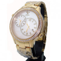 Diamond Aqua Master Watch 2 Time Zone Watch 2.45ct