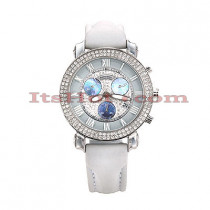 Diamond Benny Co Watch Ice Dial Watch 2.9ct Mens White