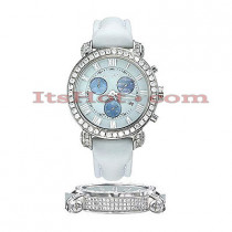 Diamond Benny Co Watch Mens 4ct White
