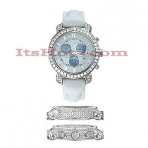 Diamond Benny & Co Watch Mens 6ct White