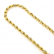 Diamond Chains: 14K Gold Diamond Necklace 4.15ct