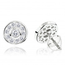 Diamond Circle Earrings 0.99ct 14K