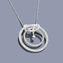 Diamond Circle Pendant in Sterling Silver 0.40ct