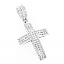 Diamond Crosses 14K Small Diamond Cross Necklace .30ct