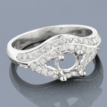 Diamond Engagement Ring Setting 0.64ct 14K Gold