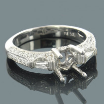 Diamond Engagement Ring Settings 18K Gold Setting .82ct
