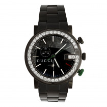 Diamond Gucci Watches 3.5ct Mens Chrono