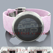Diamond Gucci Watches Ladies Diamond Watch 3ct Pink
